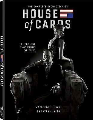 House of Cards ~ The Complete 2nd Second Season 2 Two ~ BRAND NEW 4-DISC DVD SET