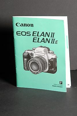 Canon Genuine EOS Elan II / IIE Instruction Book / Manual / User Guide In French