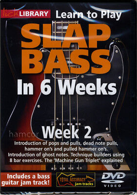 Learn to Play Slap Bass in 6 Weeks DVD 2 Lick Library Phil Williams Technique