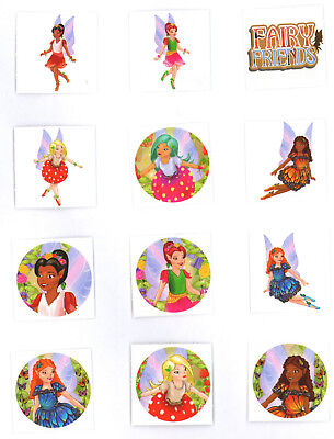 24 x Childrens GIRLS Fairy Fairies Temporary Tattoos Transfers Toys N51 034