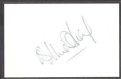 A 14cm x 9cm Plain White Card Signed by Brian O'Neil of Celtic, Derby County.