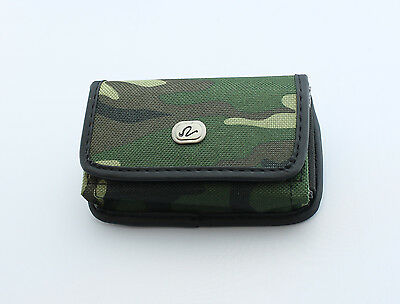 Rugged Heavy Duty Camouflage Canvas Side Belt Clip Case Cover Pouch Small Phones