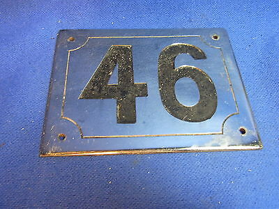 Mid Century Chrome with Black Numbers House Sign No. 46 #L