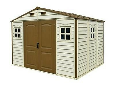 Duramax Woodside 10 x 8 Plastic Garden Shed with Free Foundation Kit
