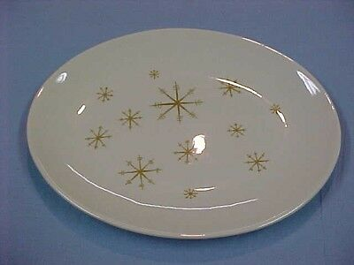 "Royal China Star Glow 13 3/8"" Oval Platter Mid Century"