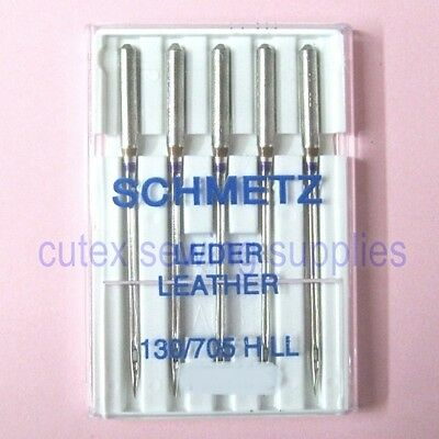 Schmetz 130/705H-LL Leather Point Needles For Home Sewing Machines - 5 Pk