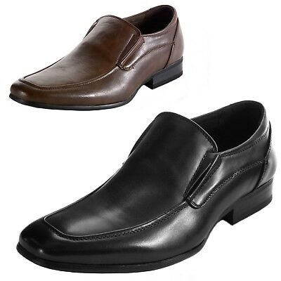 AlpineSwiss Lucerne Mens Dress Shoes Slipon Moc Toe Leather Lined Formal Loafers