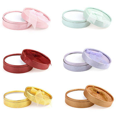 6PCs Mixed Bracelets Earrings Rings Display Jewelry Paper Gift Boxes Round USA