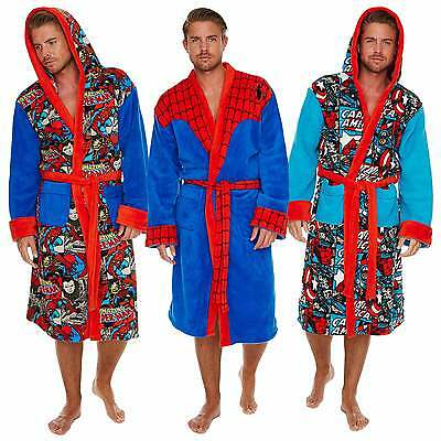 Captain America Spiderman Luxus Bademantel Marvel Bath Robe Sauna Mantel neu