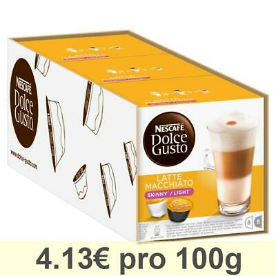 Dolce Gusto Latte Macchiato Light, Lot de 3, 3 x 16 Capsules (24 portions)