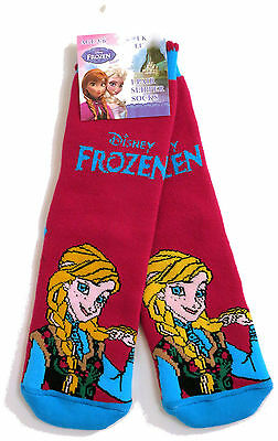 Young Girls Disney Frozen Anna Slipper Socks Uk Size 6-8.5 /  2-3 Years