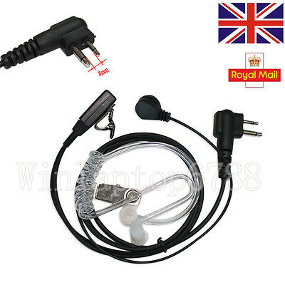 UK Stock SIA 2 Pin Security Covert Earpiece Headset For Motorola Radio PTT CP040