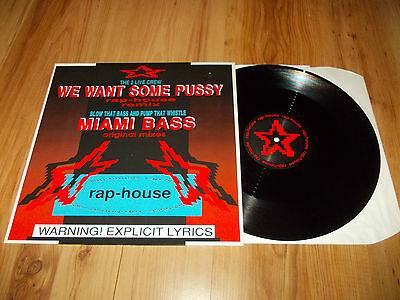 """2 live crew-We want some pussy-1987 12"""" single"""