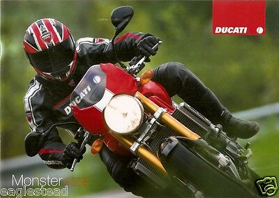 Motorcycle Brochure - Ducati - Monster - 695 SR S2R 1000 et al - 2008 (DC283)