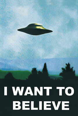 """X-Files - I Want To Believe - Tv Show Poster / Print (Ufo) (Size: 24"""" X 36"""")"""