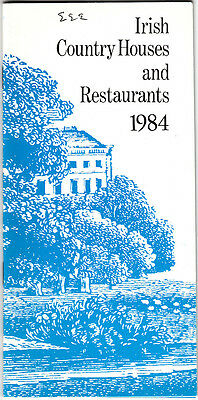 Irish Country Houses and Restaurants 1984 Vintage Ireland Booklet