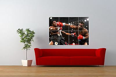 Boxing Iron Mike Tyson Knockout Giant Wall Art Poster Print