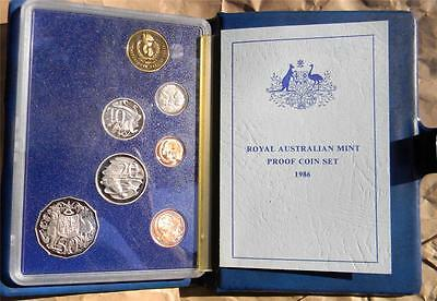 """AUSTRALIA: 1986 7-coin PROOF set """"Internation Year of Peace"""", Mint with COA!"""