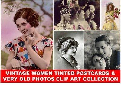 CD VINTAGE VICTORIAN WOMEN PHOTOS POSTCARD IMAGES Pictures Girls Couple Fashion