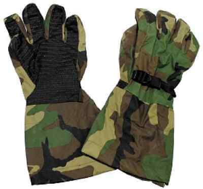 US Army Outdoor Goretex Woodland Camouflage Finger Handschuhe Gloves XL / Xlarge