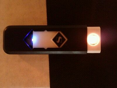 USB Electronic Rechargeable Battery Powered Flameless Lighter Windproof Diamond