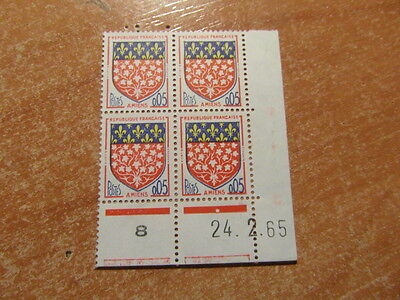 4 Timbres France Coin Date Millesime / Yt 1352 Amiens  24 02 1965