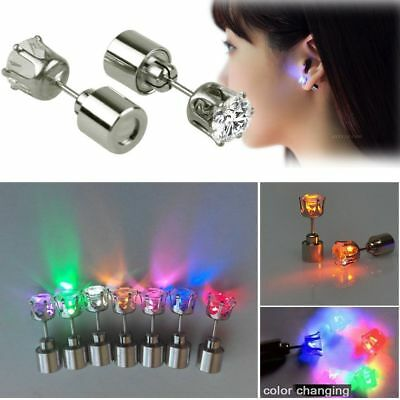 one Pair LIGHT UP LED EARRINGS STUDS DANCE PARTY ACCESSORIES FOR PARTY/XMAS