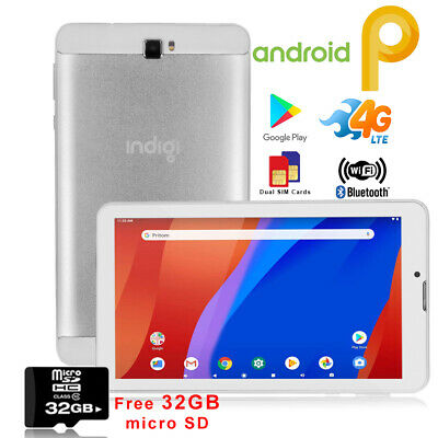 Unlocked 7-in Tablet 4G Smart Phone Android 9.0 Bluetooth WiFi Google Play Store