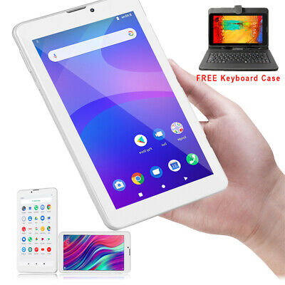 UNLOCKED Android 4.4 Mega 7in 3G SmartPhone Phablet Tablet PC Free Keyboard Case