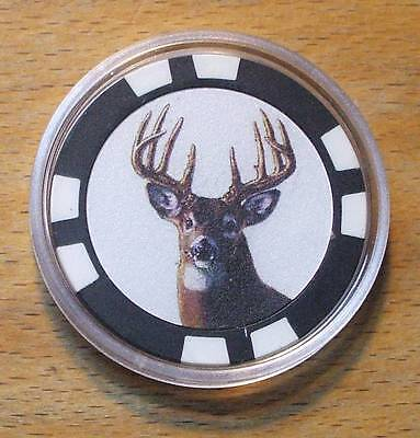 Deer Poker Chip Card Guard Cover
