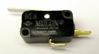 Microswitch SPNO 5A, 250V AC, with Lever, Mulon M8A-1PDM1