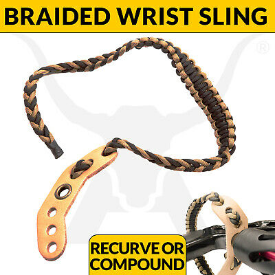New Advanced Braided Adjustable Camo Wrist Sling For Compound Bows And Archery
