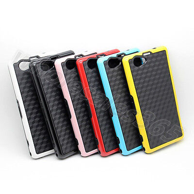 For Various Cellphones Bicolor Classical Lovely Back TPU Hybird Case Cover Skin