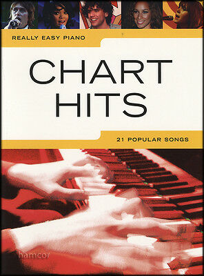 Really Easy Piano Chart Hits Sheet Music Book Songbook 21 Popular Pop Songs