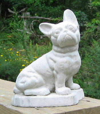CONCRETE FRENCH BULLDOG STATUE OR USE AS A MONUMENT