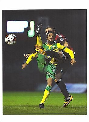 12 x 8 inch photo personally signed by Nathan Redmond of Norwich City.