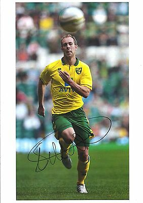 12 x 8 inch photo personally signed by Steven Whittaker of Norwich City.