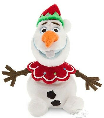 Disney Store FROZEN Olaf Christmas Holiday Snowman Mini Stuffed Plush Doll NEW