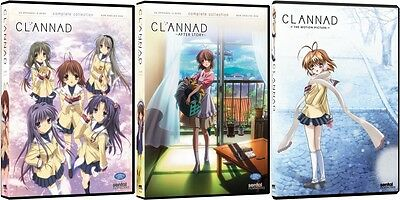Clannad + After Story Seasons 1,2 & Movie Complete Series Anime DVD Bundle R1