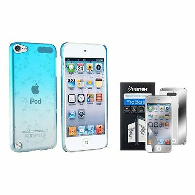 Clear Sky Blue Waterdrop Hard Case+2x Mirror Film Guard For iPod touch 6th 5 Gen