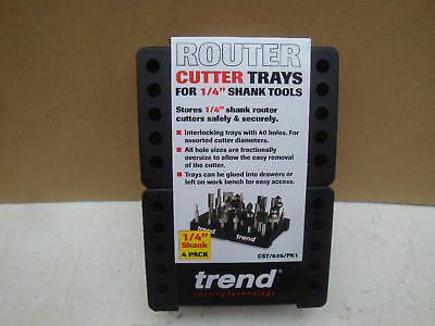 "Trend Interlocking 1/4"" Router Cutter Storage Blocks Trays Cst/635/pk1"