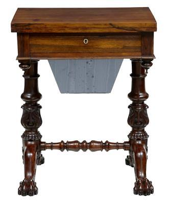 19Th Century William Iv Stunning Rosewood Work Table