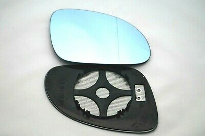 Right Uk Driver's Side Vw Golf Mk5  2003-2009 Blue  Wing Mirror Glass  / Heated