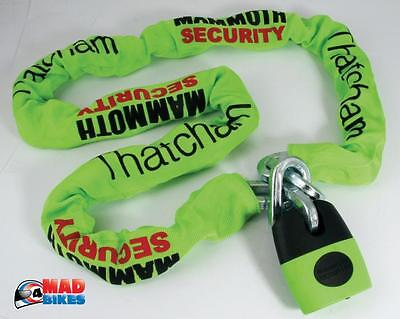 MAMMOTH MOTORCYCLE EXTRA HEAVY DUTY THATCHAM APPROVED LOCK & CHAIN 1.2m LONG