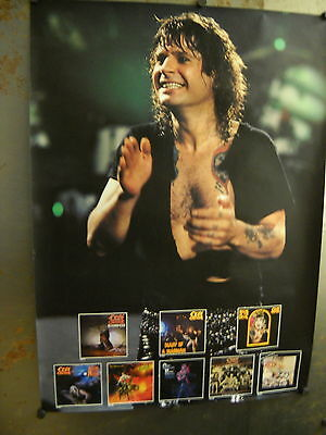 OZZY OSBOURNE seldom seen 1990 PROMO POSTER Ozzy and titles SUPERMINT condition