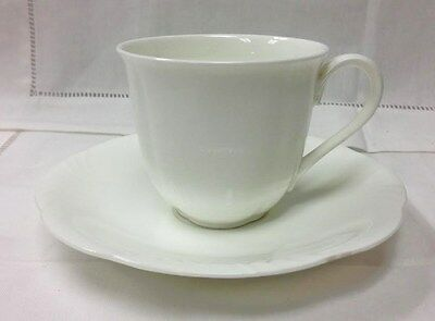 "Villeroy & Boch ""Arco Weiss"" Teacup & Saucer White Bone China New Germany"