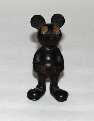 "COMPLETE HIGH GRADE DISNEY1930's""MICKEY MOUSE RUBBER FIGURINE"" BROWN EYE VERSION"