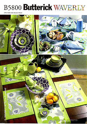 Butterick Pattern B5800 Table runner Flower bowl Tablecloth Placemat Napkin 5800