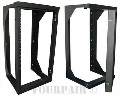 "Professional 12U Wall Mount Swing Out Gate Network IT Data Rack 18"" Depth - 2Ft"