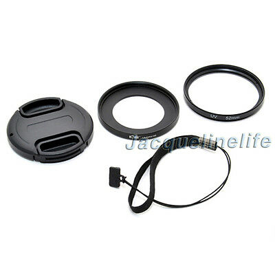 52mm UV Filter & Lens Adapter & Cap for Sony DSC-RX100 RX100II RX100III RX100IV